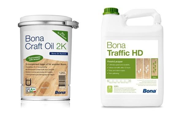 Renovácia podlahy BONA Craft Oil 2K-Traffic HD
