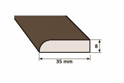 Lišta drevená L 35 x 8 mm