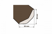 Lišta drevená C 30 x 30 mm